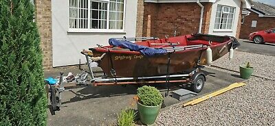 Wooden Boat Trailer And Yamaha Outboard Ready To Go  • 1,250£