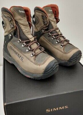 Simms G3 Guide Elkhorn Vibram Sole Mens Wading Boots Size 7. Complete With Studs • 40£