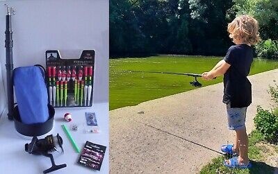 Childs Fishing / Angling Kit - Rod Reel Combo Starter Kit And Free Disgorger • 17.95£
