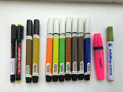 Pantone By Letraset Permanent Pens Fine Broad Fly Tying Colours 13 Assorted Pens • 0.99£