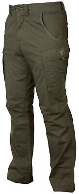 Fox Carp Fishing Clothing - Green & Silver Collection Combat Trousers • 32.99£