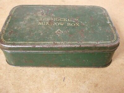 Vintage THE HOCKLEY MINNOW BOX (large) +spinning Baits • 39.95£