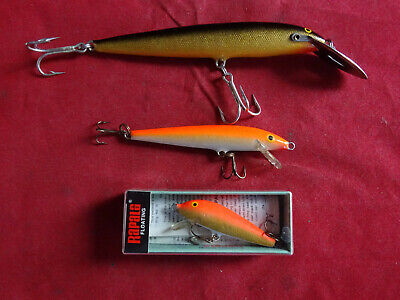3x Vintage Rapala Fishing Lures, One Boxed • 22.99£