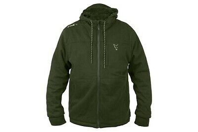 FOX NEW Collection Green & Silver SHERPA Hoody / Hoodie - All Sizes • 46.95£