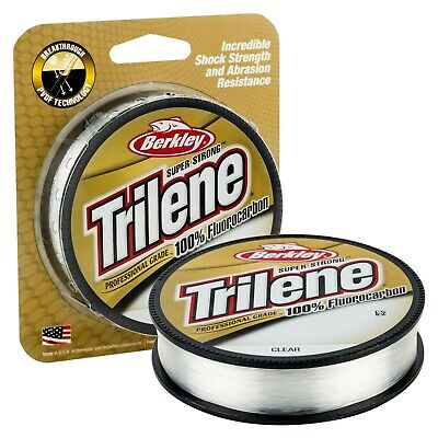 NEW! Berkley Trilene 100% Fluorocarbon 110yd *ALL SIZES* Fly Coarse Fisihng Line • 5.60£