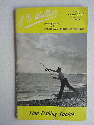2x Vintage J B Walker Fishing Catalogues For 1962 And 1965/6 • 16.99£