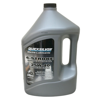 Quicksilver 4 Stroke Synthetic Blend Marine Engine Oil SAE 25W-40 - 4 Litres • 50.19£