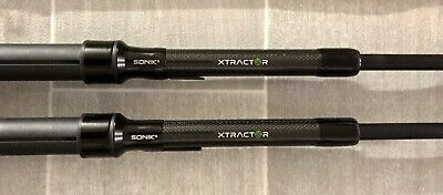2 X Sonik Xtractor 9ft 3lb  Carp Rods And Xtractor Rod Sleeves. Brand New • 63£