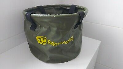 RIDGE MONKEY 10L Green COLLAPSIBLE  BAIT BUCKET CARP FISHING  • 10.99£