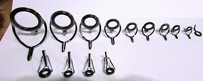 Fishing Rod Rings / Guides Silver 14 In Total A Set And Spare • 4.50£