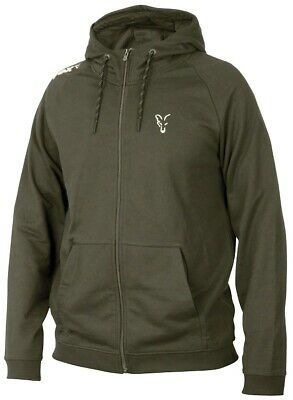 Fox Carp Fishing Clothing - Green & Silver Collection Lightweight Hoody • 24.99£