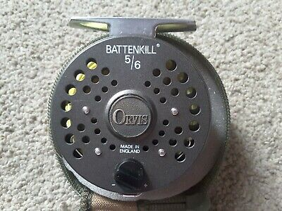 ORVIS Battenkill 5/6 Fly Reel In Case Fly Fishing Xmas Gift Mint English Quality • 49.99£