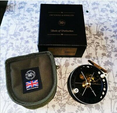J W YOUNGS River Specialist Centre Pin Reel. • 345£