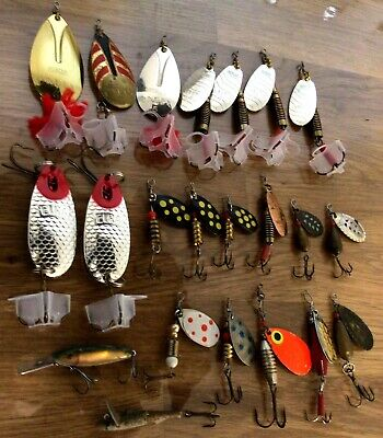 Joblot Of Vintage Fishing Lures/spinners • 7.50£