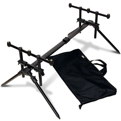 NGT Quickfish 3 Rod Pod Fully  Adjustable With Carry Case NEW • 34.99£