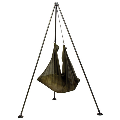 NGT Weighing Tripod System For Carp Fishing Large Mud Feet & Carry Case NEW • 33.99£