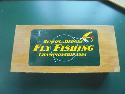 Benson & Hedges Fly Fishing Championship 1984 Box With Various Flies • 14.95£