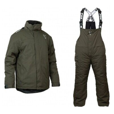 Fox Green & Silver Winter Suit Combo Bib & Brace And Jacket ALL SIZES • 144.90£