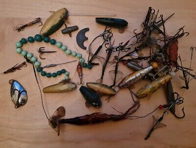Job Lot / Joblot Vintage Spinning  Spinners, Minnows & Fishing Lures / Baits  • 25£