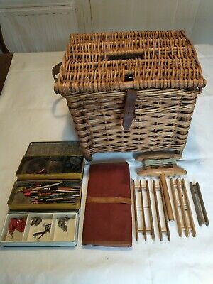 Vintage Wicker Fishing Creel And Tackle • 19.99£