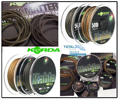 Korda NEW Dark Matter Tungsten Tubing, Putty & Kable Leadcore *Full Range* • 14.99£