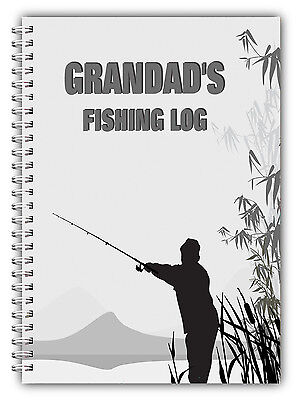 A5 Personalised Fishing Log/journal/record Book/ Personalised Fishing Gift/03 • 7.59£