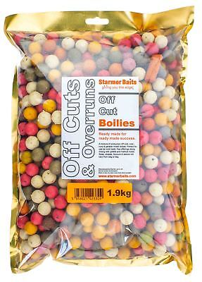 Carp Fishing Boilies Mixed Off Cuts And Over Runs Mixed Sizes And Colour 1.9kg • 12.50£