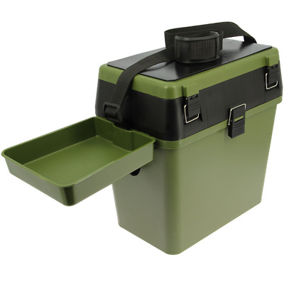 NGT Green Seat Box Storage System +Fly Coarse Sea Carp Fishing + Tackle Boxes • 24.25£