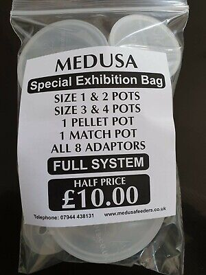 MEDUSA FULL SYSTEM 6 Different Size Pole Pots 8 Different Size Adaptors Free Dvd • 10£