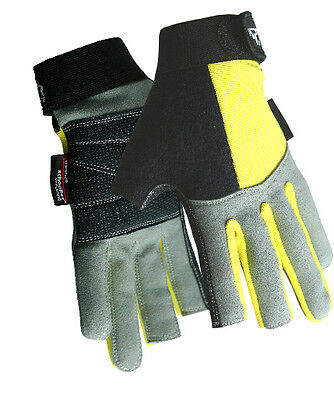 Reinforced Padded Palm Ocean/Sea Fishing/Angling Aramid 2 Digit Gloves • 12.99£