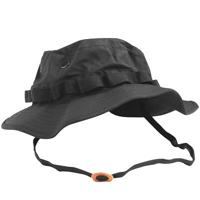 Teesar Us Gi Military Patrol Boonie Hat Trilaminate Waterproof Jungle Cap Black • 11.95£