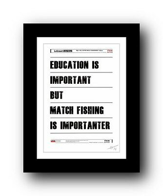 MATCH Fishing  ❤ Poster Art Signed Limited Edition Print - Cool Gift Present • 14.95£