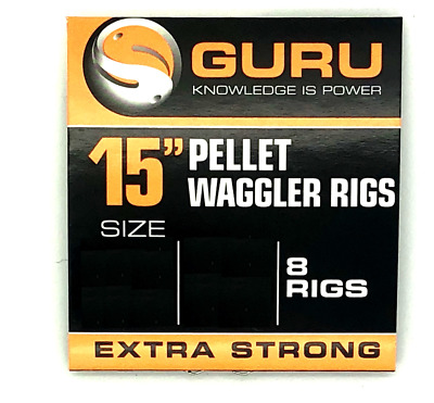 Guru 15  Barbless Pellet Waggler Rigs With Bait Bands • 3.25£