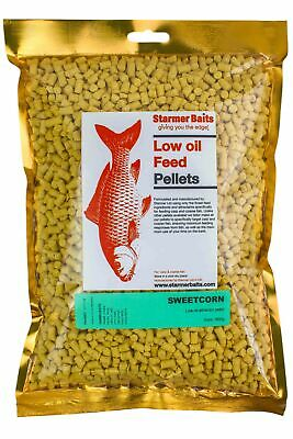 Sweetcorn Low Oil Feed Pellets For Carp And Coarse Fishing All Season 5mm • 6.99£