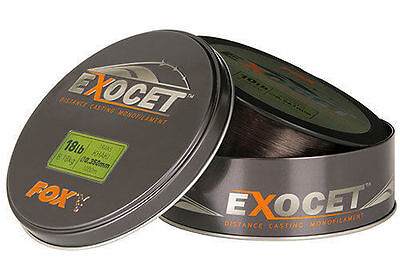 New Fox Exocet Distance Casting Mono Line Trans Khaki Mainline 1000m - All Types • 20.89£