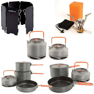 New Fox Cookware Set Pans Canister Stove Windshield Kettle - Complete Range • 29.95£