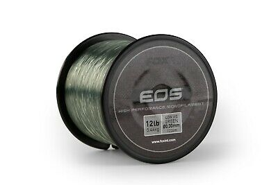New Fox EOS Monofilament Line Low Vis Green - Carp Fishing - All Breaking Strain • 10.98£