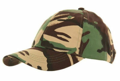 New Children's Army Camouflage Camo Camping Fishing Hat Cap Baseball Holiday Sun • 3.99£