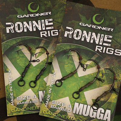 New Gardner Tackle Ready Tied Ronnie Rigs (Pack Of 3) - Carp Pop Up Fishing • 4.98£