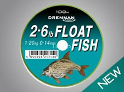 Drennan Float Fish Line New All Breaking Strains Available - 100m FREE P+P • 4.99£