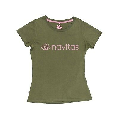 New Navitas Women's Lily Green And Pink Tee T-Shirt - All Sizes - Carp Fishing • 12.98£