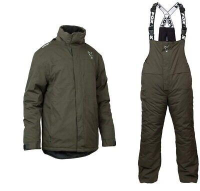 Fox 2 Piece Winter Suit Khaki Insulated S - 4XL Carp Fishing Clothing • 169.99£