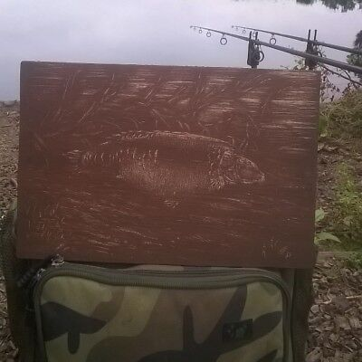 Carpy Etchings Of Famous Carp On Wood A4 Bazil, Burghfield Common, Black Mirror • 45£