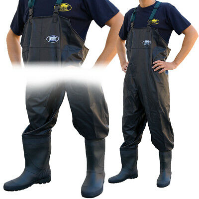 Lineaeffe PVC Chest Waders Sizes 6 7 8 9 10 11 12 Carp Coarse Fly Fishing Tackle • 24.95£