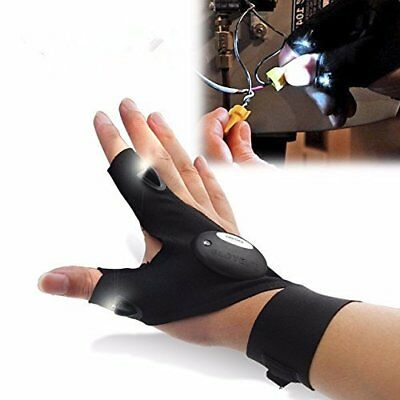 LED Finger Glove Flashlight Torch Hunting Night Vision Plumbing Electrician • 9.98£