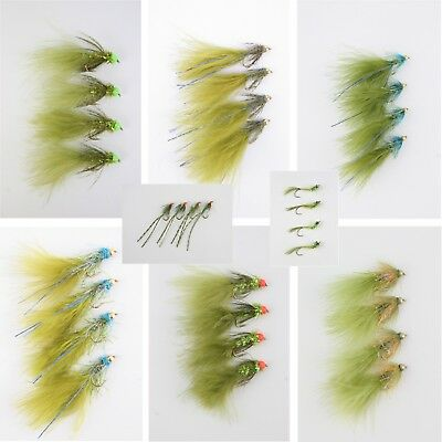 X4 Damsels, Assorted Varieties, Gold-Heads, Nymphs, Lures, Trout Fishing Flies • 3£