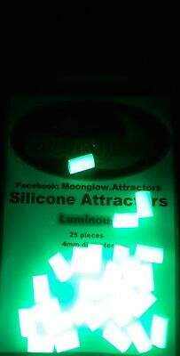 Moonglow Silicone Luminous Attractors. Sea Fishing, Soft Beads, Glow In The Dark • 3.15£