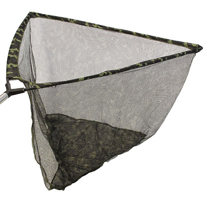 CAMO 42  Inch Large Carp Pike Fishing Landing Net With Metal Spreader And Case • 24.65£