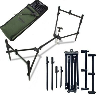 NGT XPR Rod Pod Carp Fishing 3 Rod Fully Adjustable Lightweight Compact Pod • 45.95£