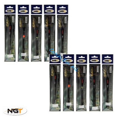 10 X NGT Pole Float Assorted Pole Rigs Carp Coarse Match Ready Tied Barbless  • 10.95£